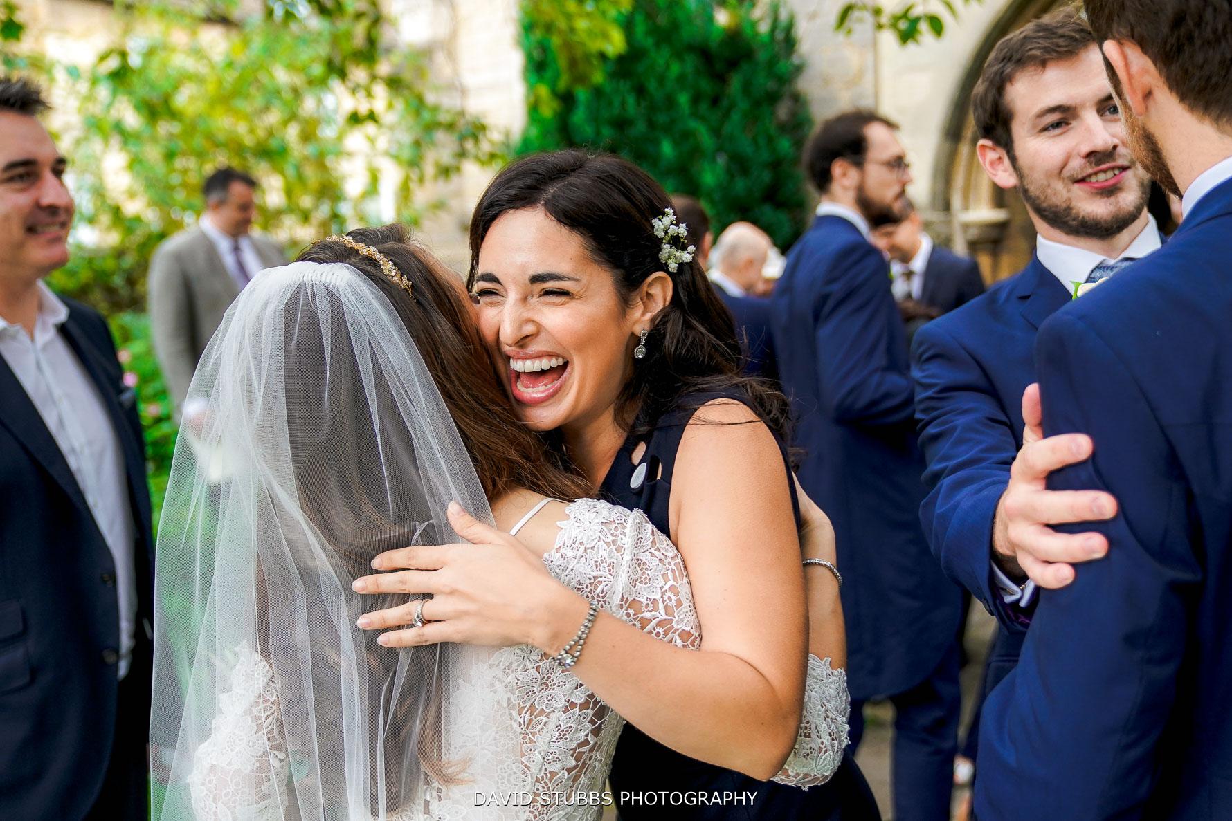 congratulating the couple