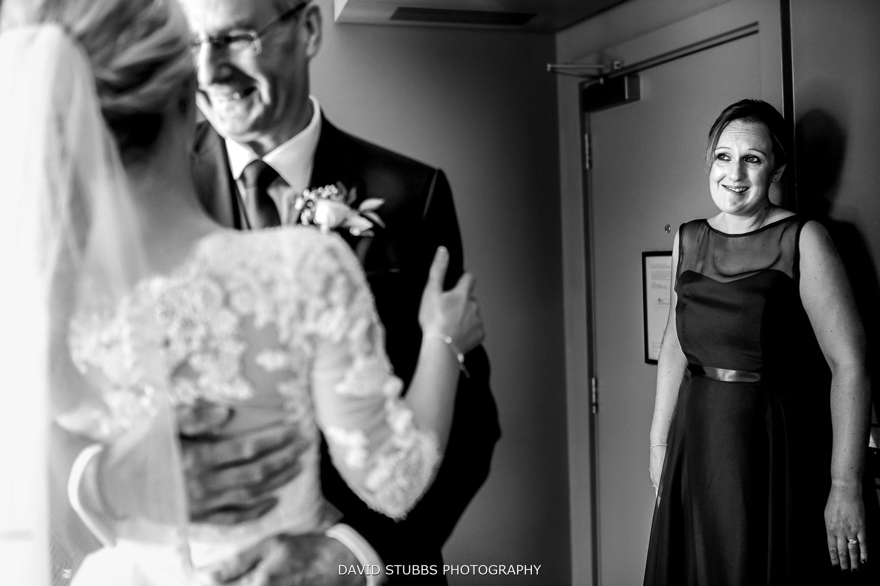 bridesmaid emotional seeing her