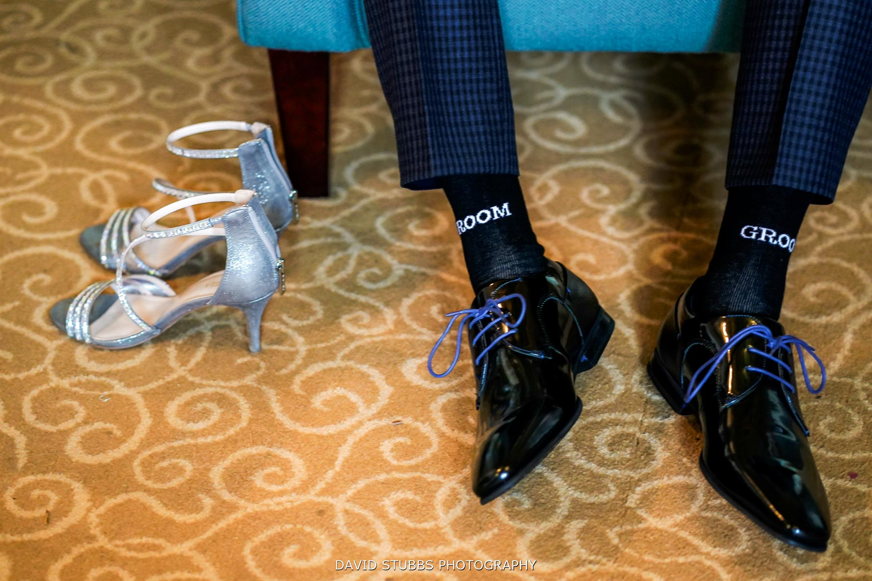 groom and bride shoes