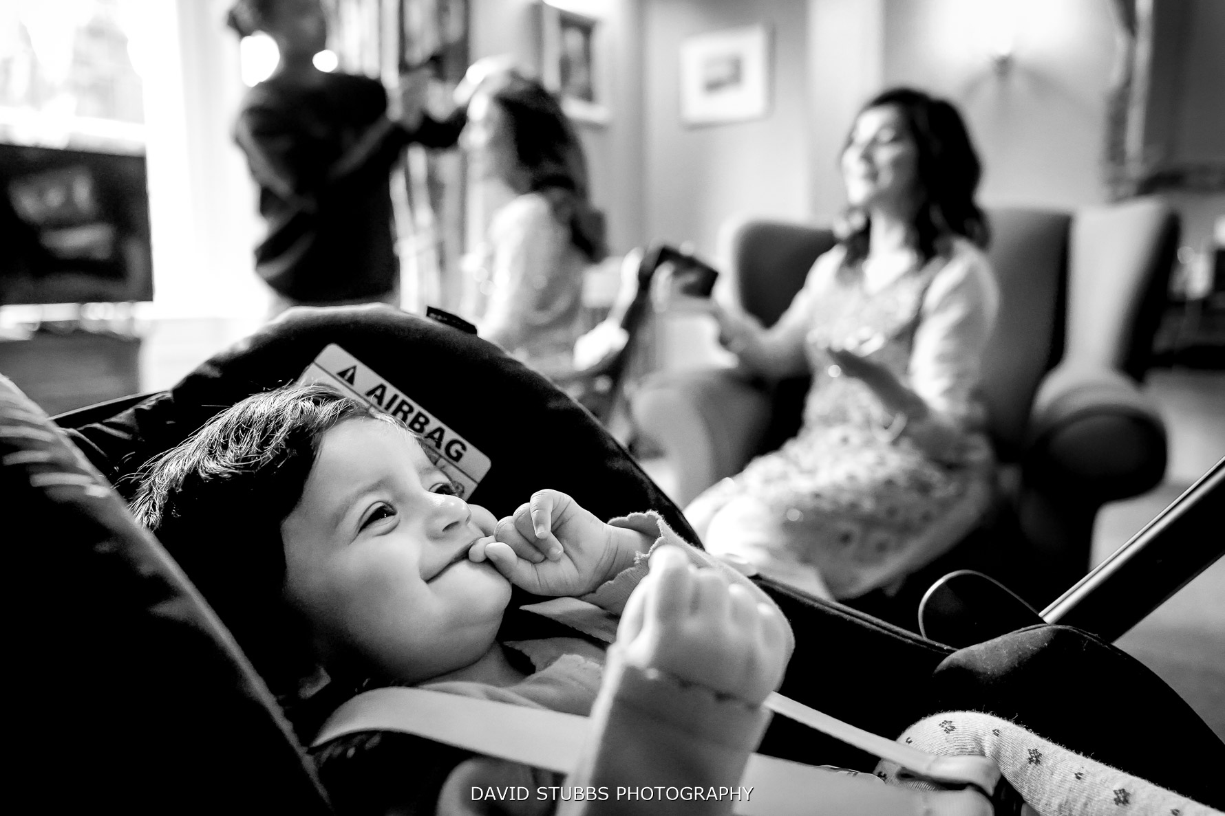 baby at the wedding
