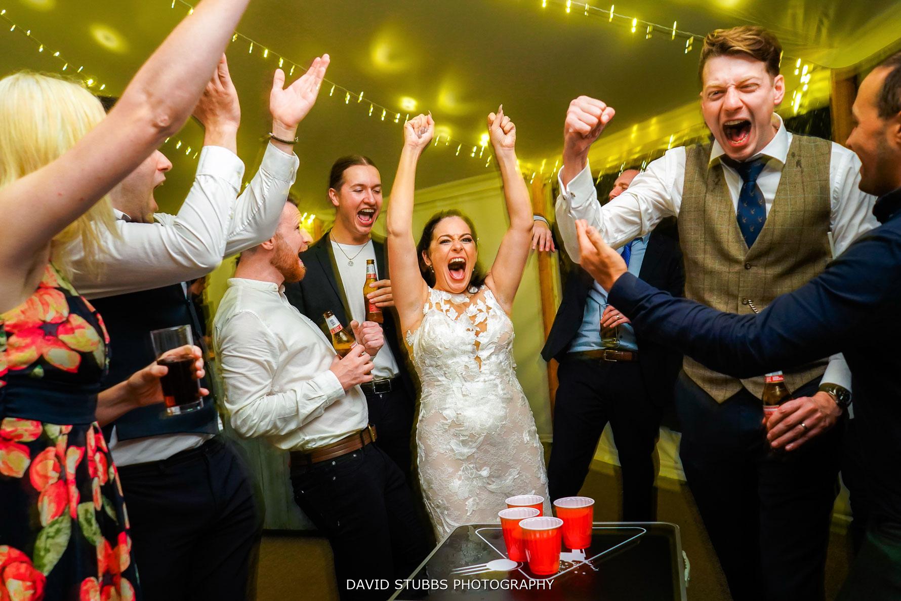 beer pong at weddings