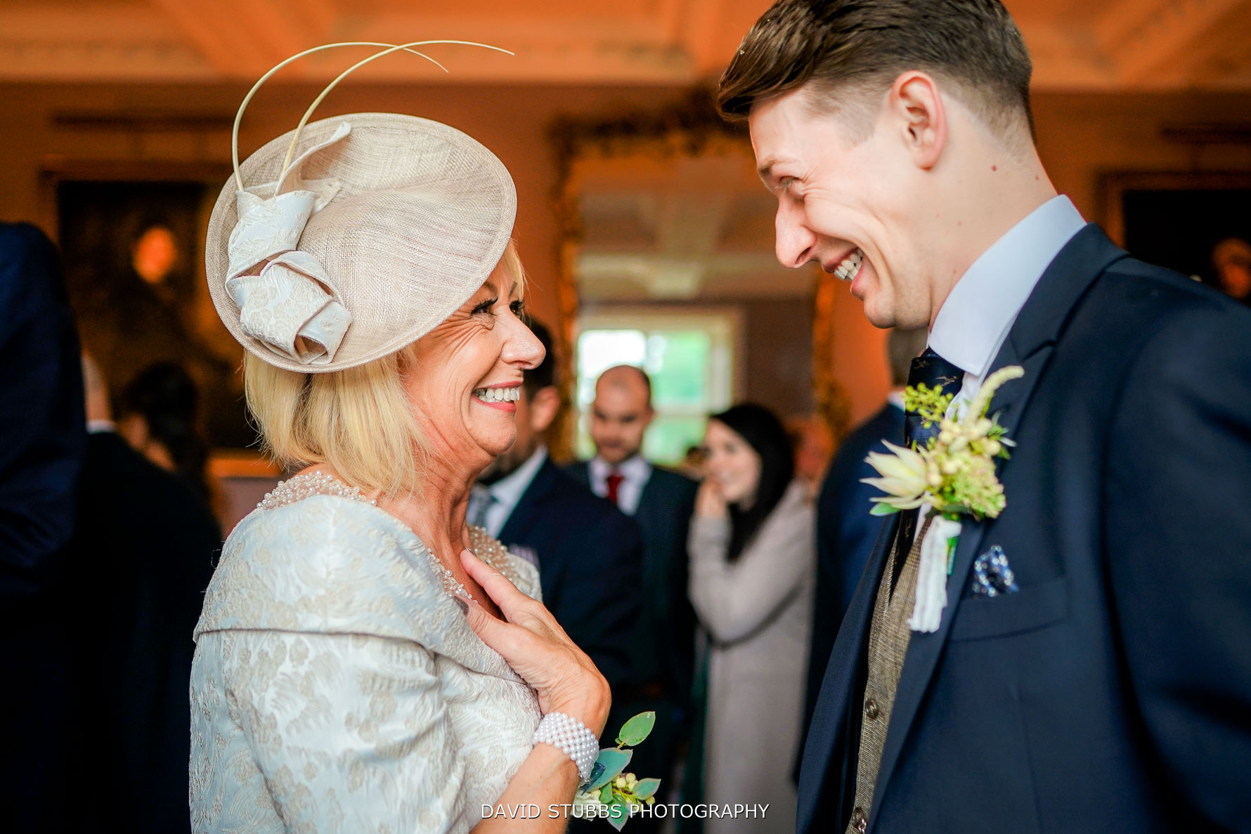 mum and son smiling at each other