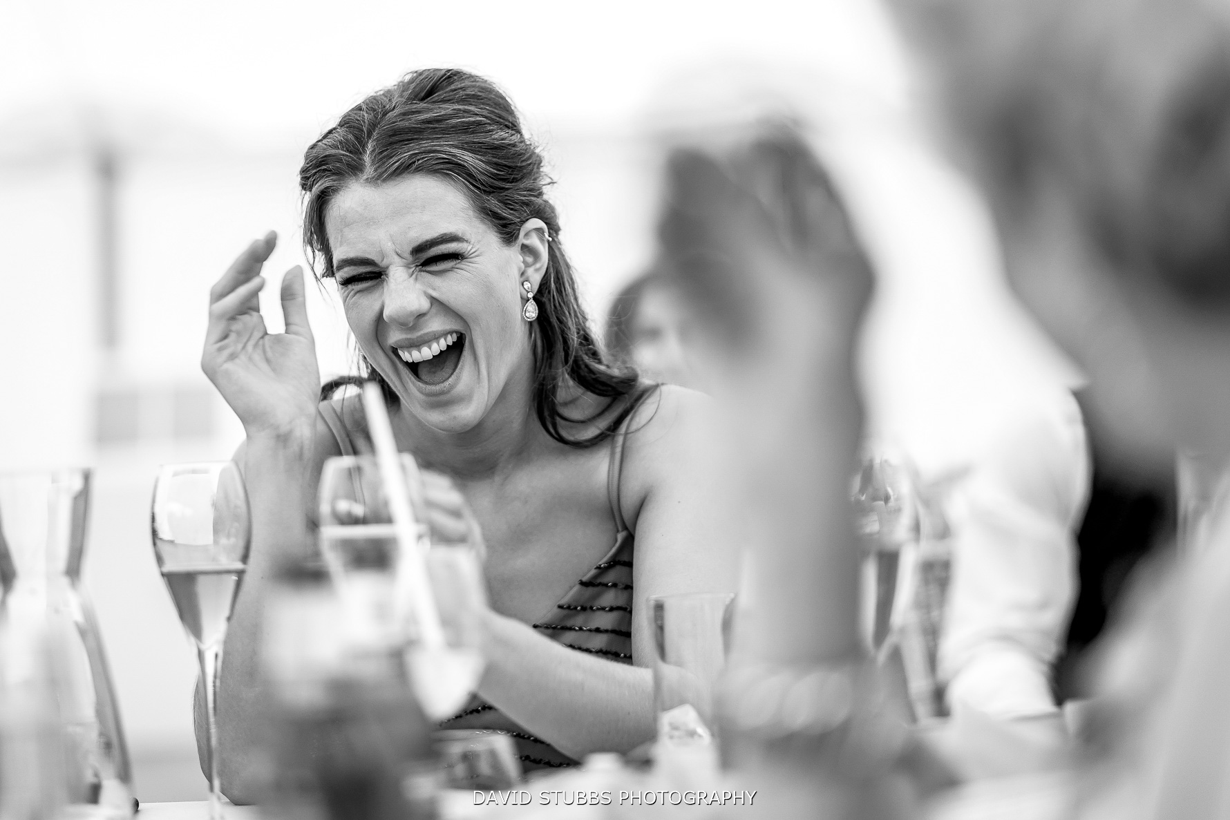 laughter from wedding guests