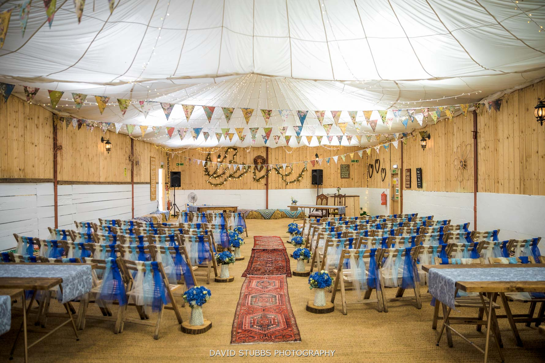 the wedding barn for your ceremony at wellbeing farm