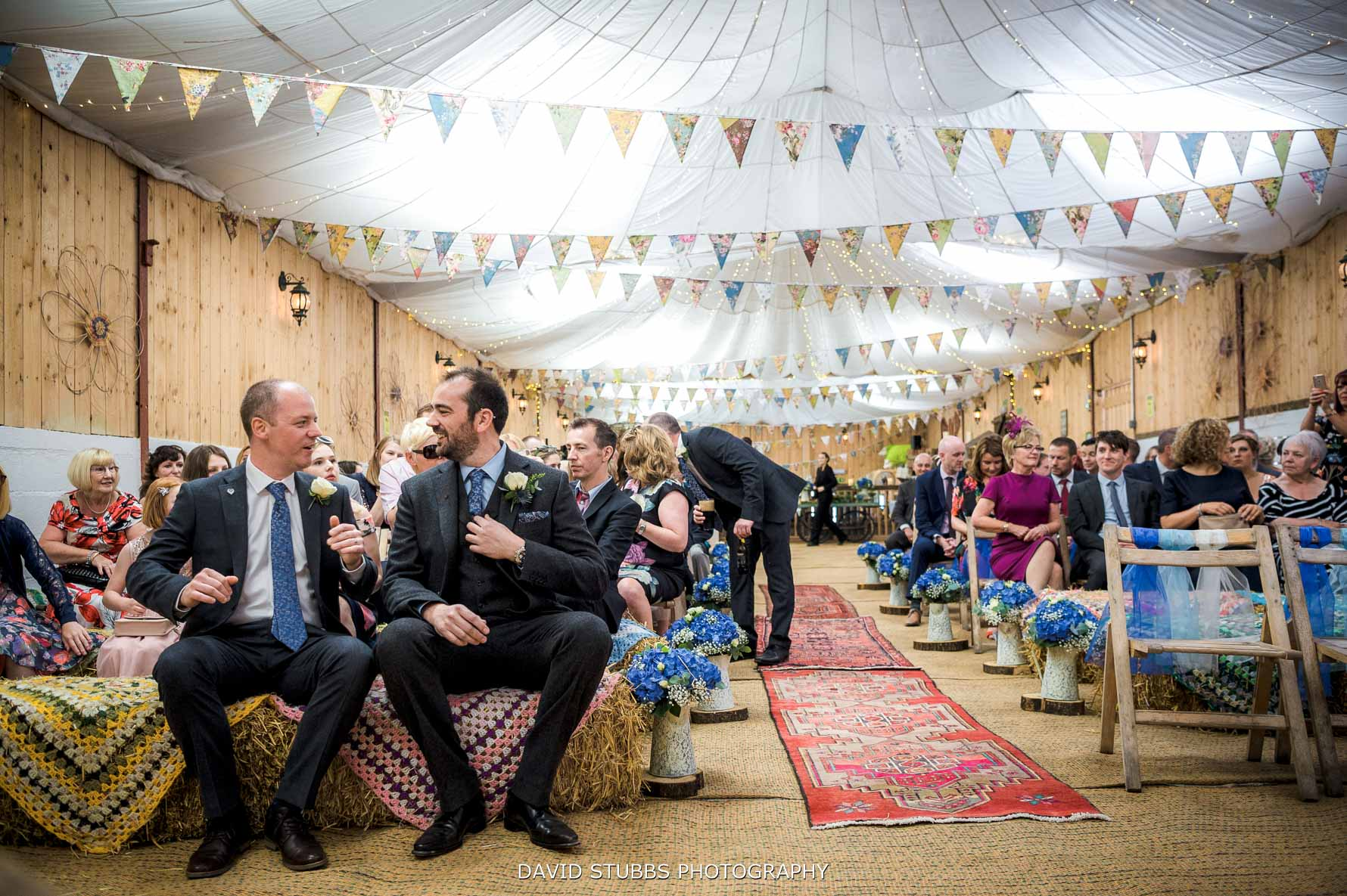 ceremony room with bunting